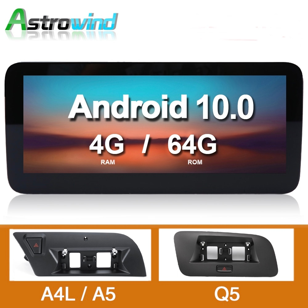 10.25 Inch 8 Core 4G Android Car GPS Navigation System Radio Player Media Stereo forAudi A4 A5 Q5 S4