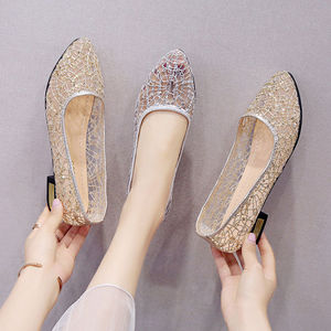 Shoes Woman 35-42 PLUS Size Women's Summer Breathable Mesh Sandals Pregnant Women Soft Bottom Beanie Flat Bottom Fashion