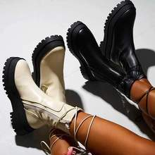 Autumn Newest High Qualtiy Women Boots Fashion Lace-up Ankle Casual Round Toe Stylish Shoes for Wome