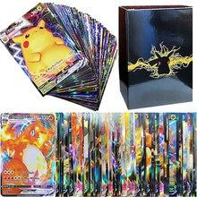 100pcs Pokemon V VMAX Cards Display English Version Pokémon Shining Cards Playing Game Collection B