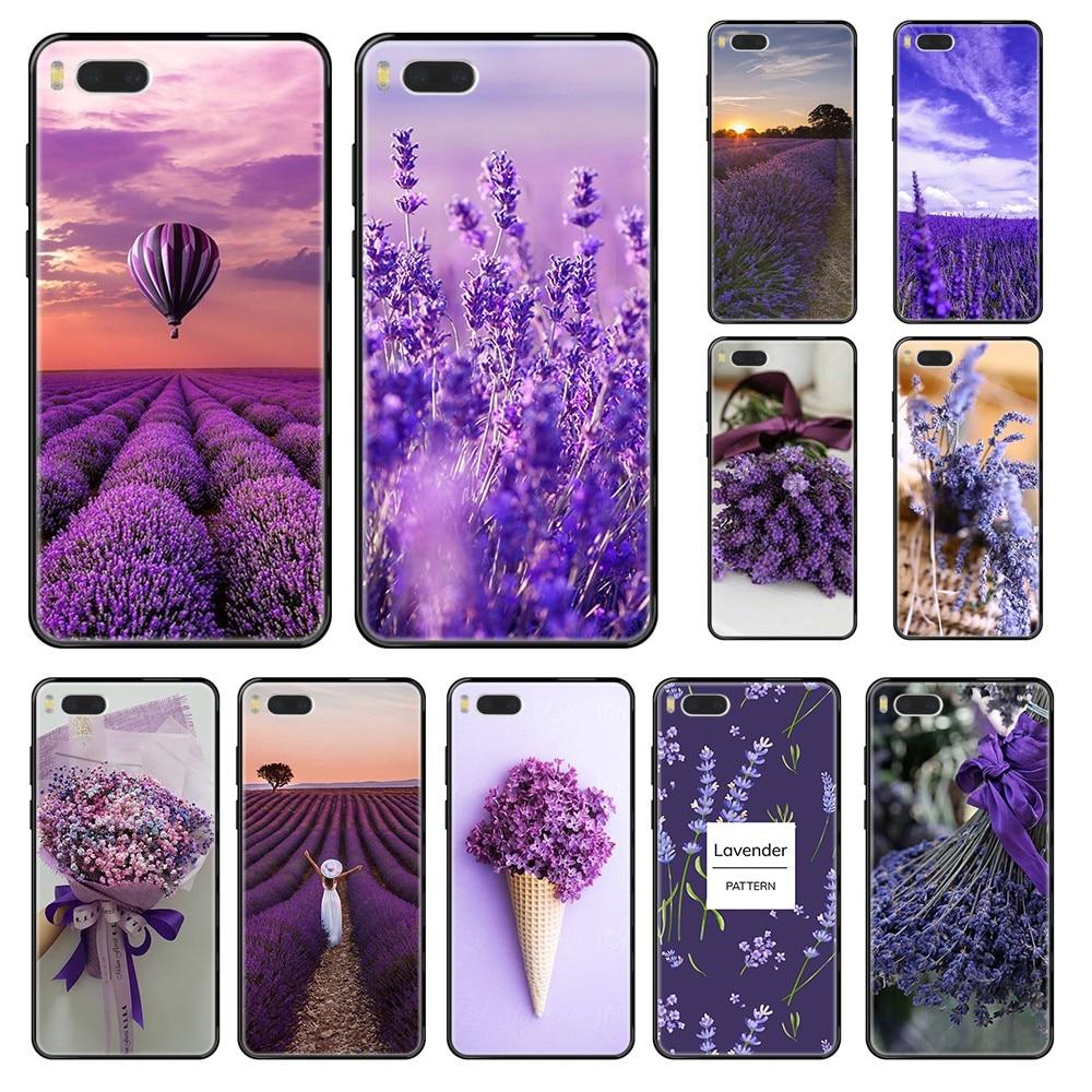 lavender theme trend luxury waterproof bumper black Phone case For Xiaomi Redmi Mi 3 5 6 8 9 A1 2 Max3 Mix2 X SE Lite Pro