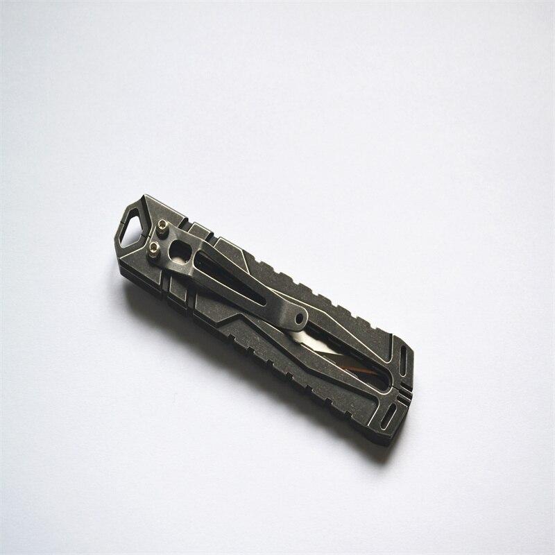جديد EDC Gear التيتانيوم سكين قطع غيار مصنوعة بدقّة جيب الحلاقة السكاكين متعددة أداة في الهواء الطلق سكين صيد
