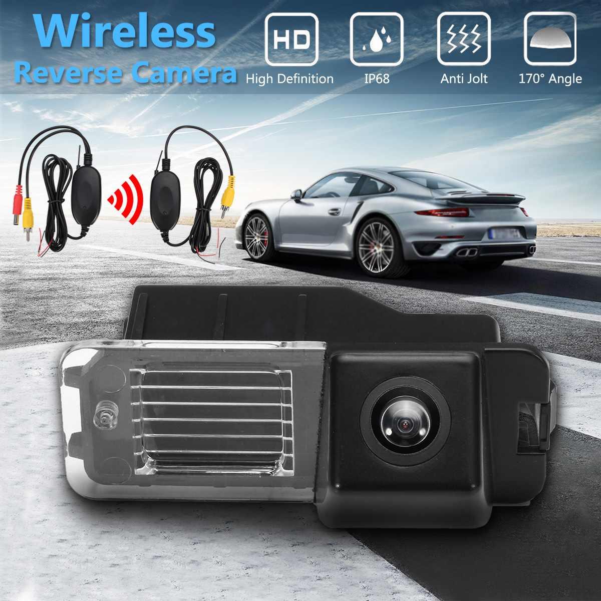 Cámara de visión trasera inalámbrica HD CCD para VW Polo V (6R) Golf VI Passat CC MK4 MK5 MK6 GTi R20
