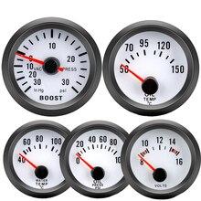 52mm Boost/agua Temp/aceite Temp/Prensa de aceite/medidor de voltaje auto PSI turbo manómetros puntero Modificación de coche medidor de aumento