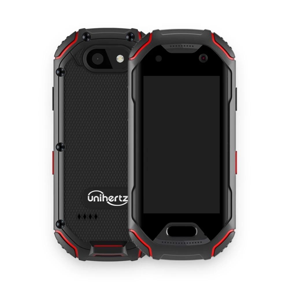 Unihertz Atom 4GB RAM و 64GB ROM أصغر هاتف ذكي متين 4G في العالم أندرويد 9.0 قبل مقفلة IP68 NFC هاتف ذكي