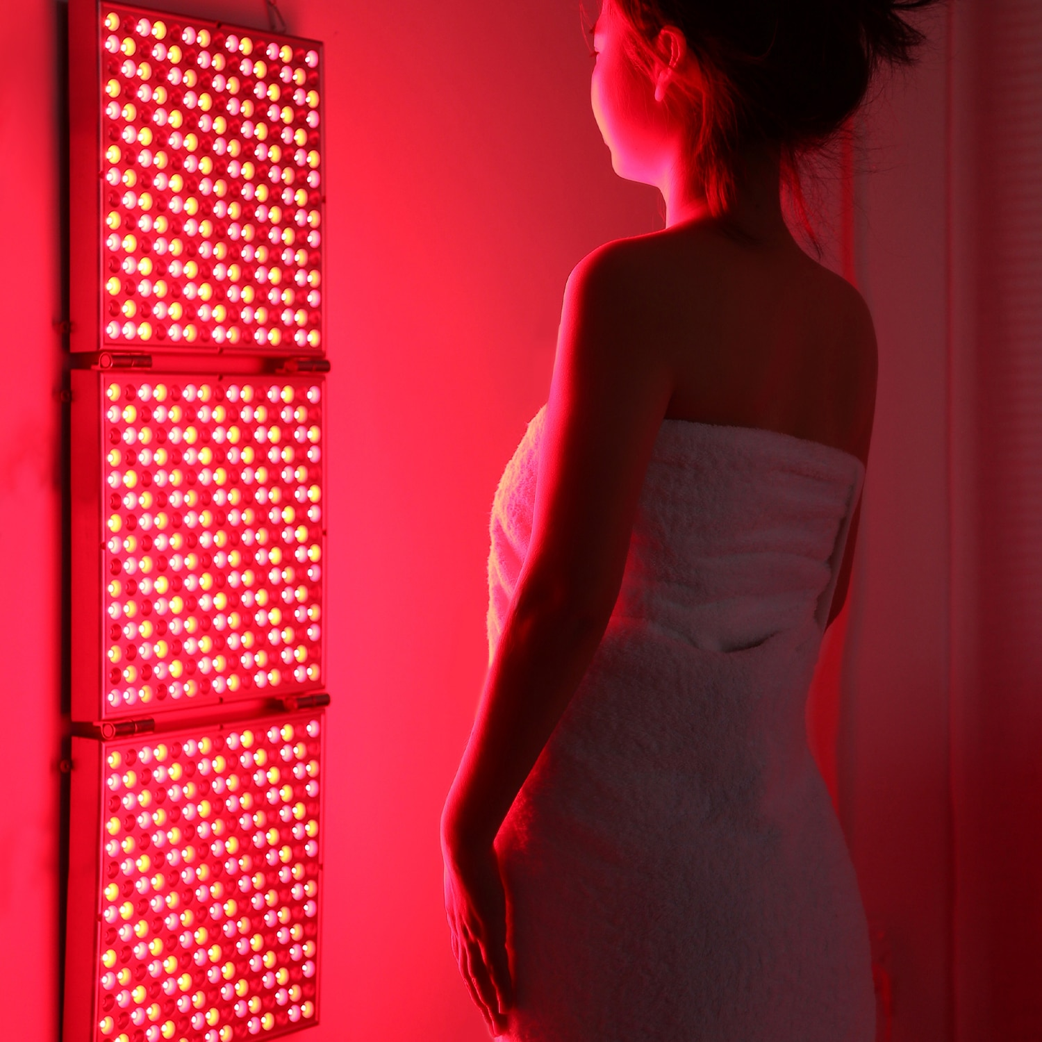 Red Light Therapy 135W Panel Device Infra Led Full Body Medical for Skin Beatuy Lamp Deformable Foldable Infrared Face Reg Rowth enlarge