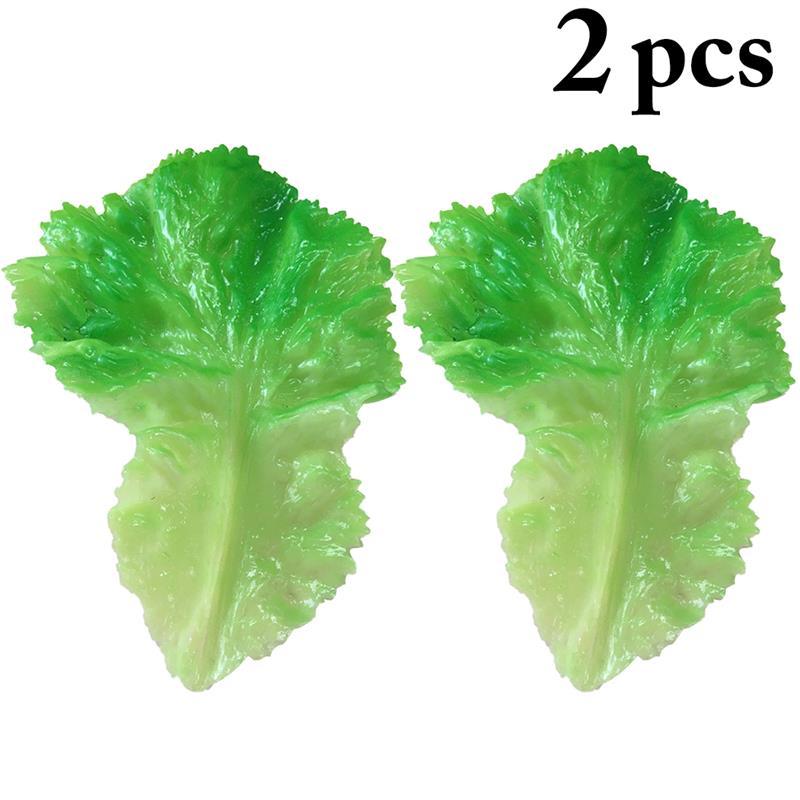 2 uds., vegetales artificiales, lechuga multiusos, hojas, modelo de exhibición de alimentos