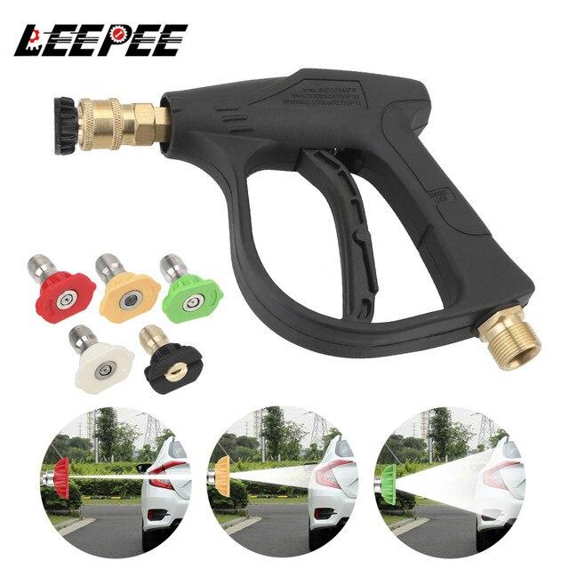 """LEEPEE 14 мм M22 гнездо 1/4 """"Авто быстроразъемный пистолет для мойки автомобиля из пенопласта, 5 шт., сопла для распыления мыла, автомобильный водяной пистолет высокого давления"""