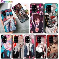 power chainsaw man for samsung a01 02 02s 11 12 21 21s 22 31 32 41 42 51 72 s20 ultra plus 4g 5g black soft phone case