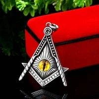 new retro triangle shape eye pattern pendant necklace mens necklace metal sliding necklace pendant accessories party jewelry