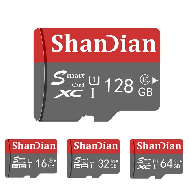 ShanDian Original Micro SD Card 64GB Class 10 Memory Card microSD 8GB 16GB 32GB TF Card microSDHC/SD