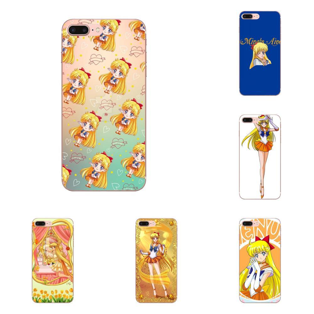 De moda de Sailor Moon Sailor Venus Flexibles para LG G3 G4 G5 G6 G7 K4 K7 K8 K10 K40 K50 Q6 Q60 V10 V20 V30 V40 Nexus 5 5X 2017