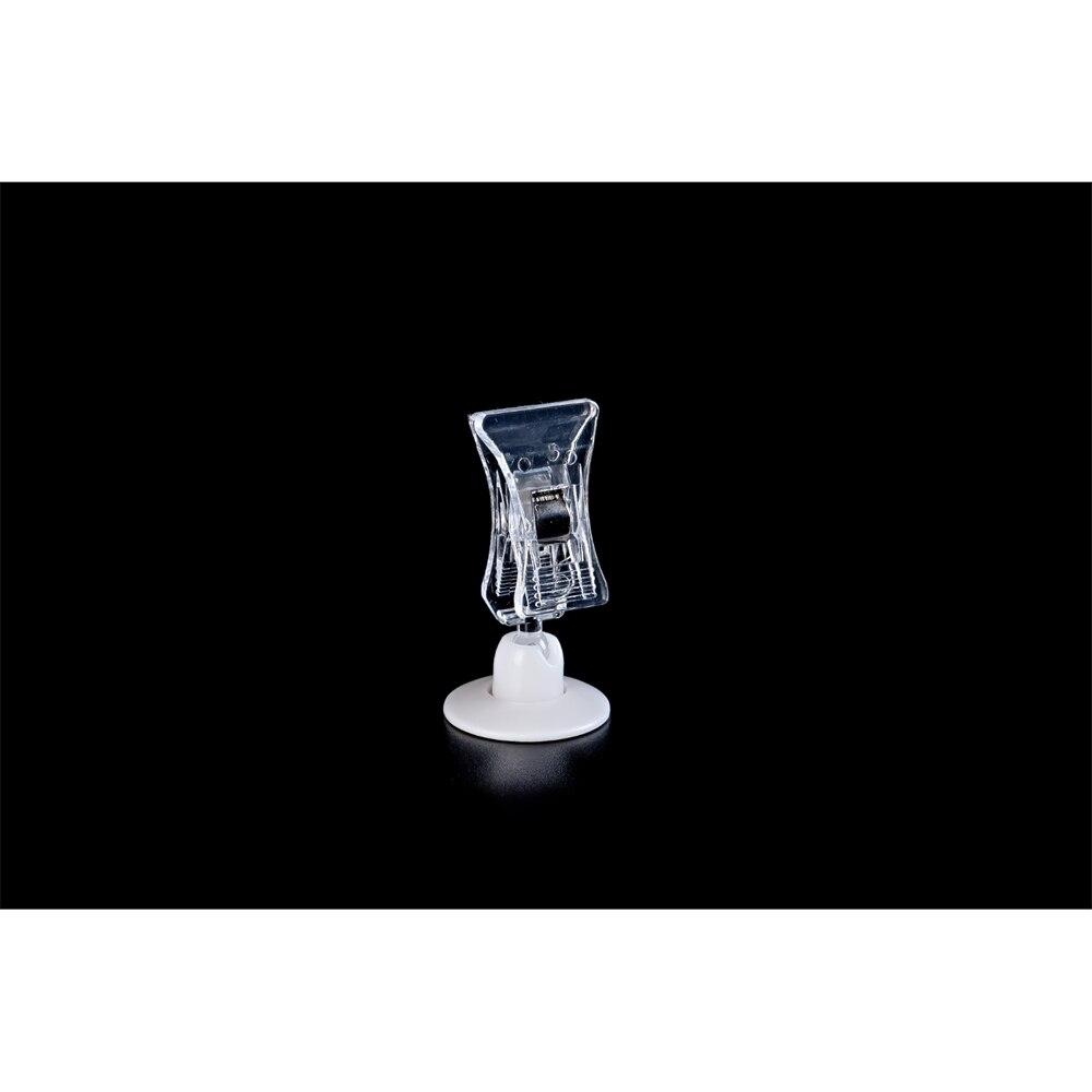 Пластиковый пружинный держатель знака зажим мини Цена Этикетка Зажим стенд клей