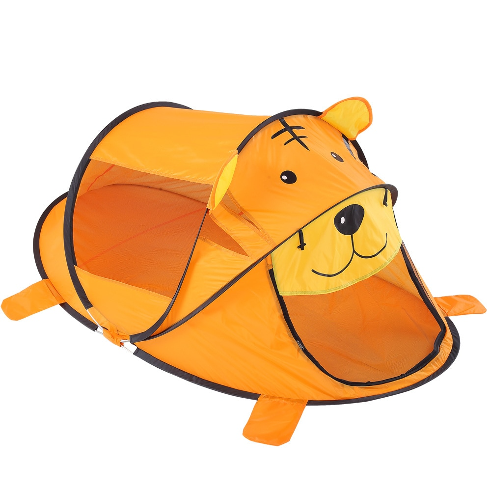 Children Staycation Lovely Animal Tiger Tent Kids Indoor Cartoon Game Room Tiger Folding Outdoor Bobo Ball Pool Toys