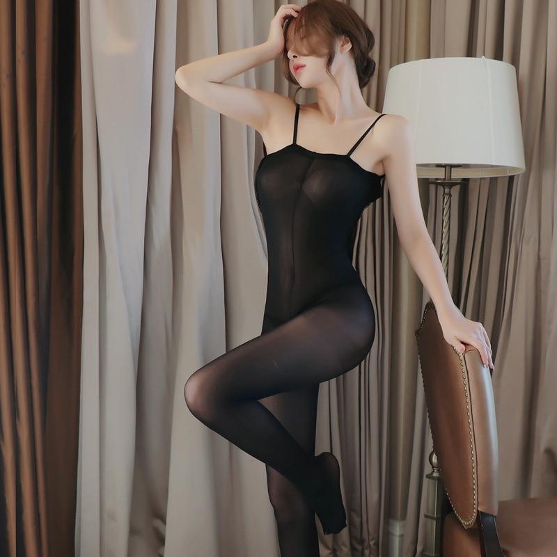 Sexy Transparent Pantyhose Open Crotch Erotic Lingerie Women's Porn Sex Stockings Nylon Tights Novel