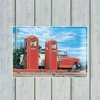 highway gas station retro metal tin sign metal painting iron plate wall art decoration bar family wall decorative ar