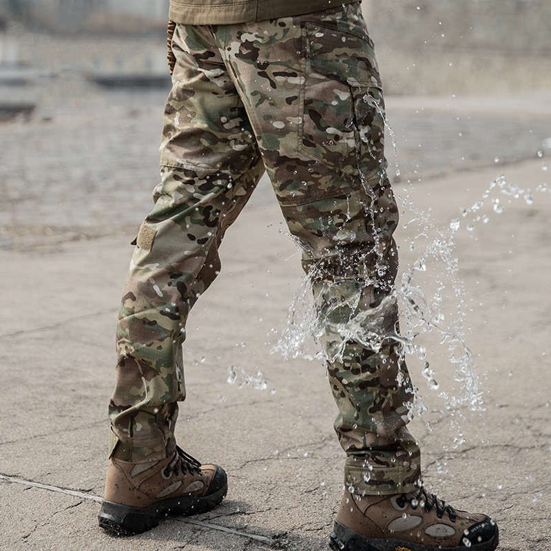 Overalls Pants Army Fans Outdoor Training Climbing Waterproof Wearproof Multi-pocket Tactical Military Trousers Climbing