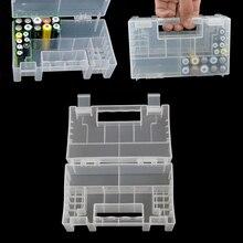 Boîte de rangement pour piles AAA 9V, boîtier plastique, organisateur, support, conteneur