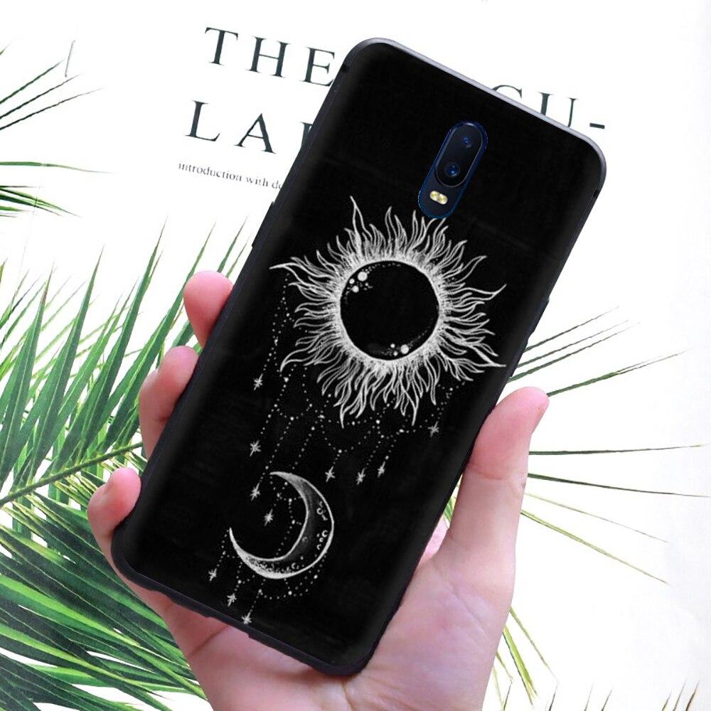 Sol e lua preto silicone caso de telefone para oppo reno 2 z 10x ace 2z 2f 3 pro realme 2 a5 3 5 pro q x2 xt x50 x lite