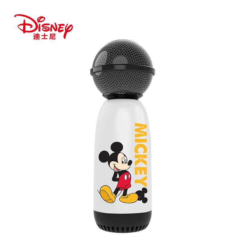 Dinsey Mickey Portable Bluetooth Karaoke Microphone Wireless Handheld Speaker Mini Home KTV For Music Player Singing Mic enlarge