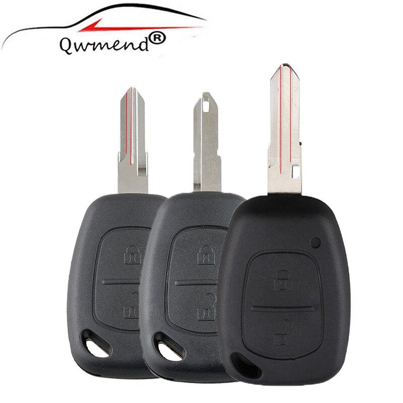 2 botões do carro remoto chave caso escudo para vauxhall opel movano/vivaro para renault kangoo tráfego para nissan primastar