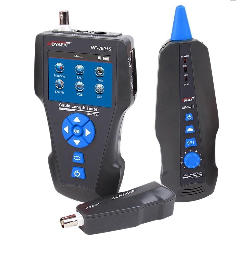 NF-8601S متعددة الوظائف TDR قياس طول اختبار كابل الشبكة مع PoE/PING/ميناء وظيفة فلاش كاشف جهد