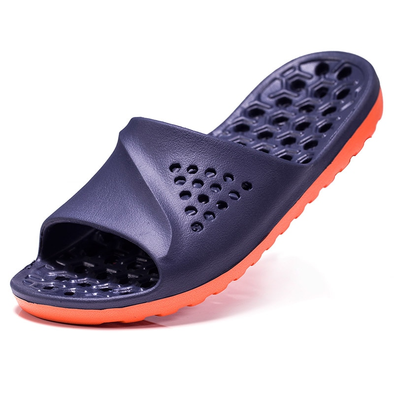 Mens Badslippers Casual Non-slip Slides Summer Massage Flip Flops Bathroom Beach Slipper Fashion Soft Sole Man Massage Sandals