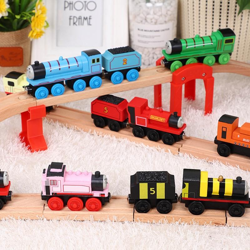 New thomas e Amigos Treina Brinquedos de Madeira Thomas Gordon Henry Duncan Mini Trens de Brinquedo de madeira Thomas Trens Brinquedos Para As Crianças presente