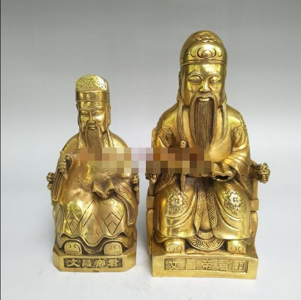--- + + Wenchang dijun ornamentos de cobre wenquxing wenchang estátua de deus yewang estudante carreira promoção artesanato