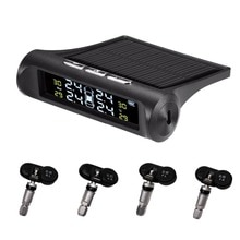 KPAY Smart Car TPMS Tyre Pressure Monitoring System Solar Power Digital LCD Display Auto Security Al