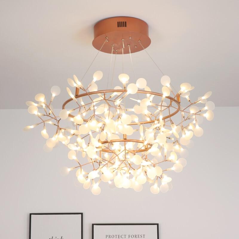 Lámpara colgante Led moderna, ramas de acrílico nórdico, iluminación para comedor, cocina, lámparas colgantes industriales de diseño