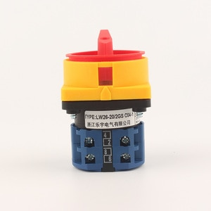 Hot sell LW26 GS   20A 32A ON-OFF rotary switch