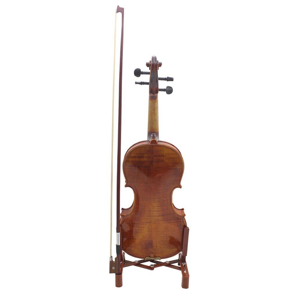 Soporte para violín portátil, soporte plegable para instrumentos musicales con soporte para ukelele, violín, guitarra de cuerdas, partes de instrumentos