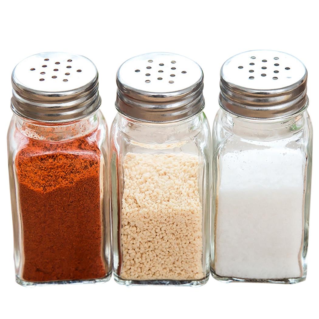 3/6pcs Seasoning Container Multi-Purpose Seasoning Shaker Spice Bottle For Pepper Salt Kitchen Tools