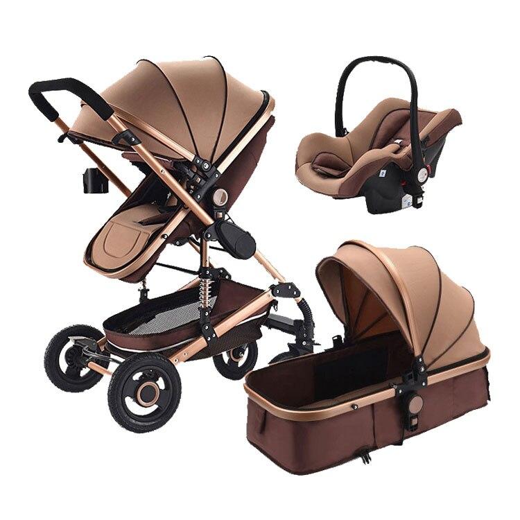 Детская коляска 3 в 1, коляска с автомобильным сиденьем, дорожная система, детская коляска с автомобильным сиденьем, комфортное автомобильно...