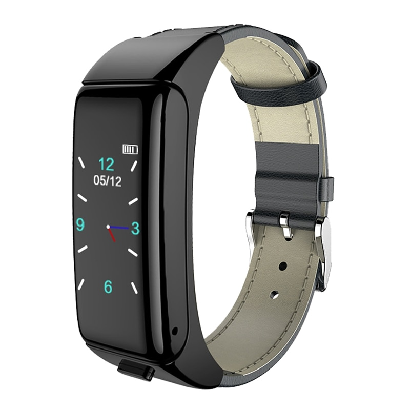 B6 pulsera deportiva inteligente auriculares Bluetooth 2 en 1 llamada para escuchar música pulsera de monitorización de ritmo cardíaco