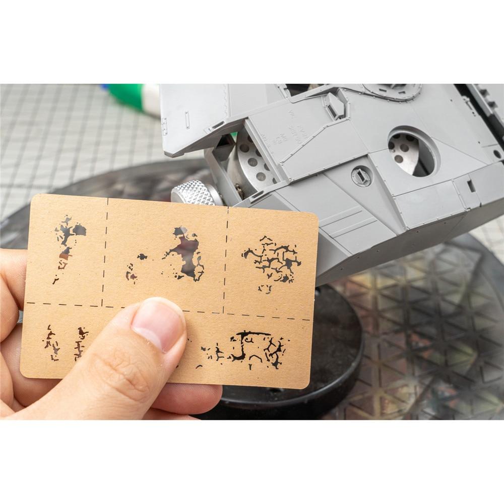 Plantillas para pinceles de pintura con efectos de grietas, herramientas para LIANG-0008 modelo 1/24 1/35 1/48, piezas de decoración DIY