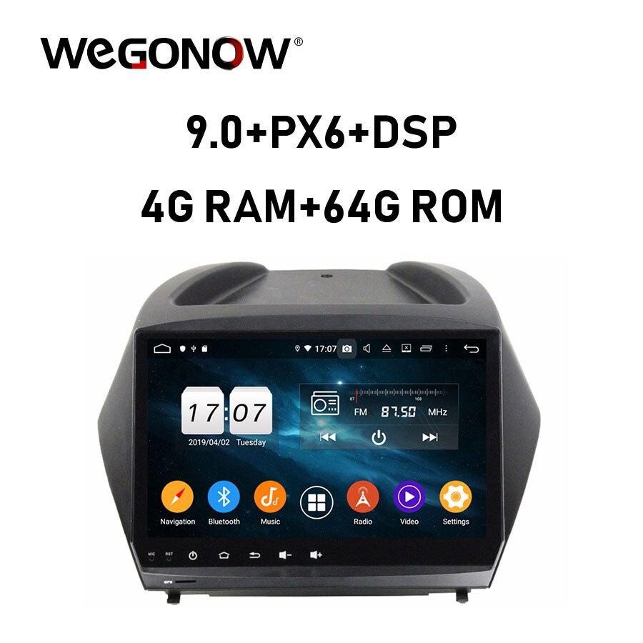 "PX6 9 ""TDA7851 Android 9,0 para Hyundai IX35 2011-2015 8 Core 4GB RAM 64GB ROM grabadora de coche reproductor de mapa GPS Radio wifi Bluetooth5.0"