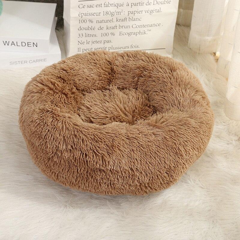 Camas para perros Anti ansiedad, gran forma de rosquillas, esterilla suave, cama para gatos, cama lavable para perros, productos para perros grandes
