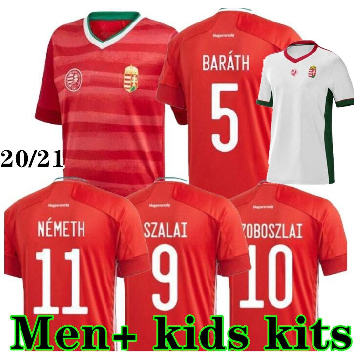 Men + kids kits 20 21 Hungary national team home Soccer Jerseys 2020 2021 SZOBOSZLAI BALOGH magyar Football Shirts Uniforms
