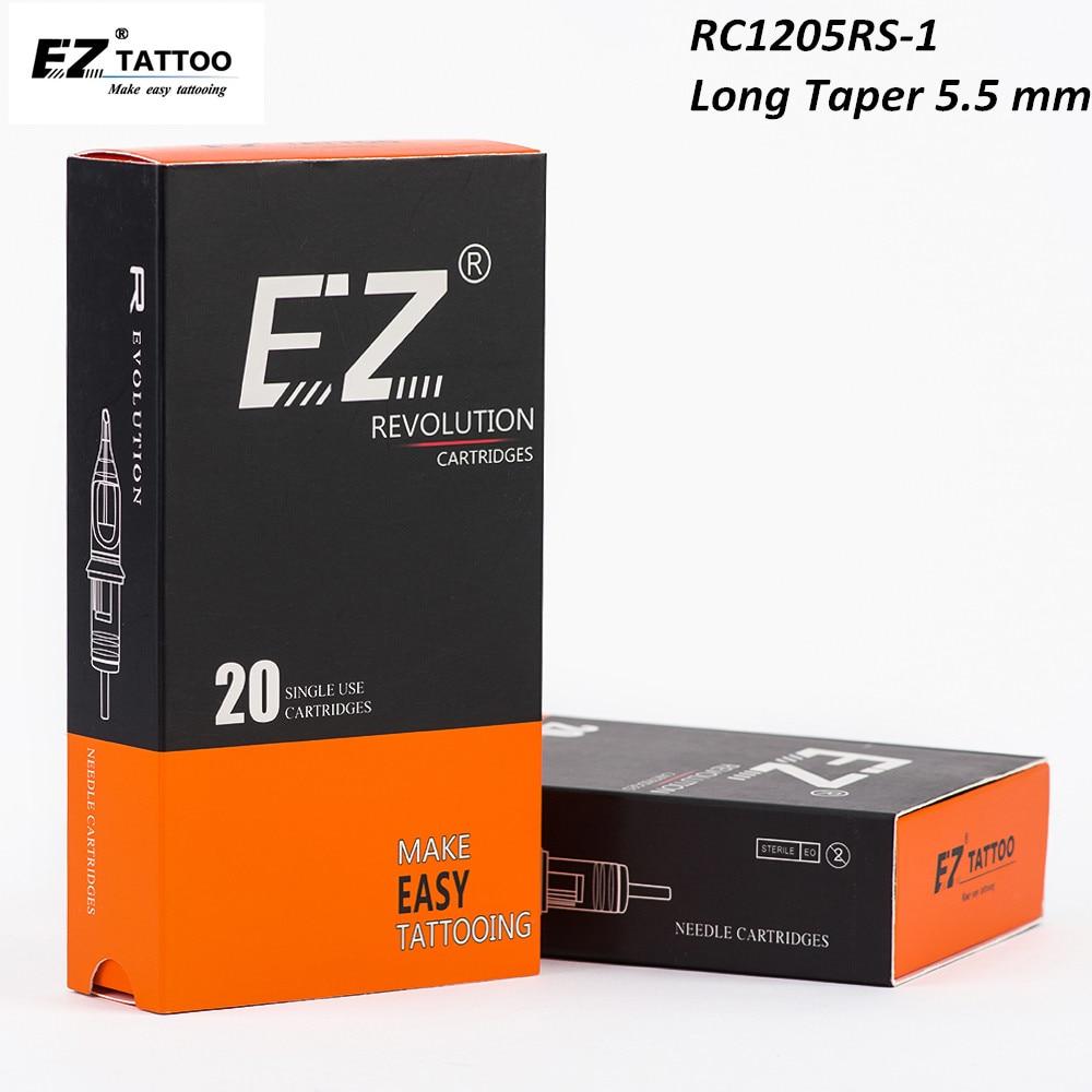 RC1205RS-1 EZ Revolution Cartridge Tattoo Needles Round Shader Needles #12 (0.35 mm) Regular Long Taper 5.5 mm 20 pcs/Box