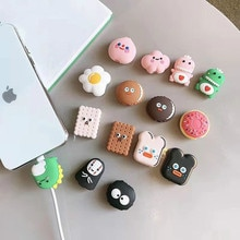 NEW 1PC Cute Cartoon animal cable protector for iphone usb cable bite chompers holder charger wire o