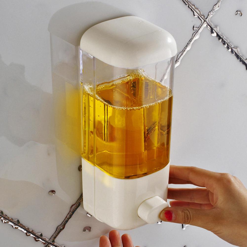 Дозатор для мыла 500 мл, настенное крепление для ванной комнаты, контейнер для шампуня, лосьона, держатель, система, неперфорированный отель Toliet