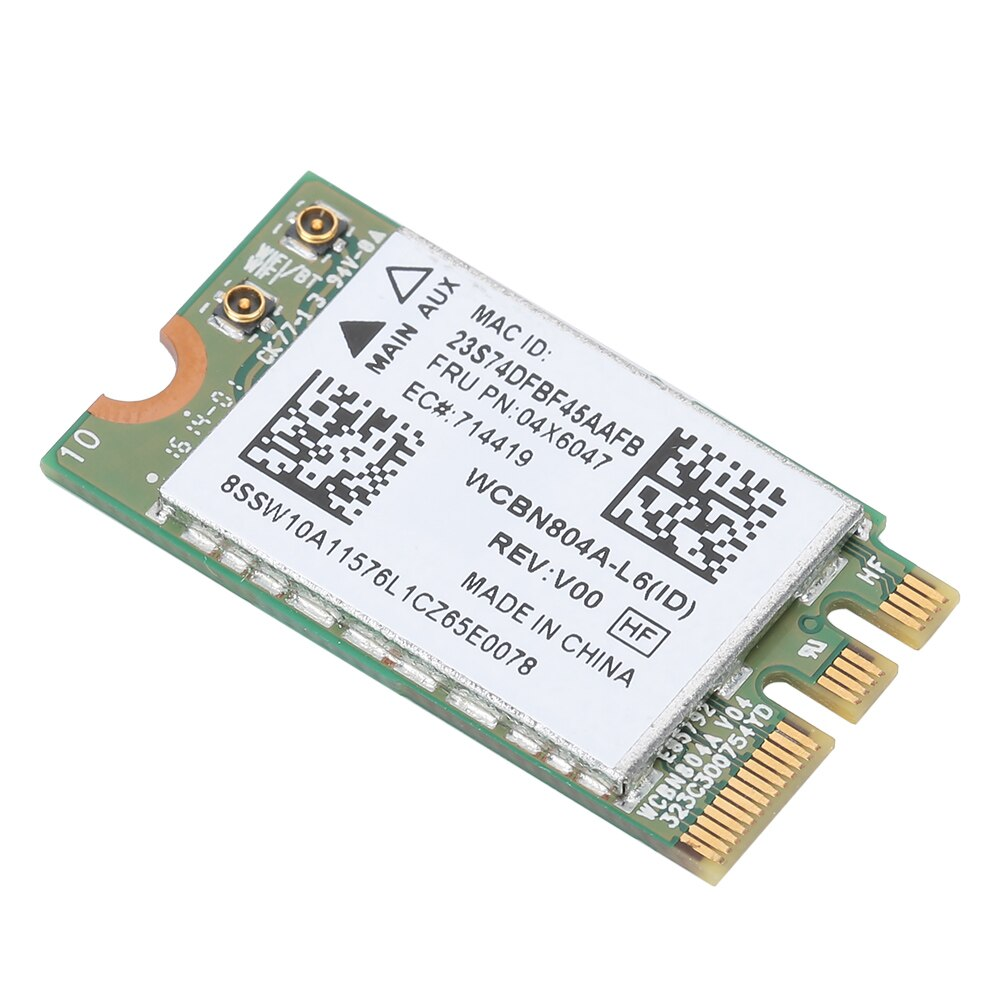 Tarjeta de red inalámbrica de banda Dual 5G para Qualcomm Atheros QCNFA34AC 867M Bluetooth 4,0 compatible con Lenovo B50-80 E460 E560