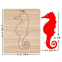 new seahorse wooden dies cutting dies for scrapbooking multiple sizes v 90
