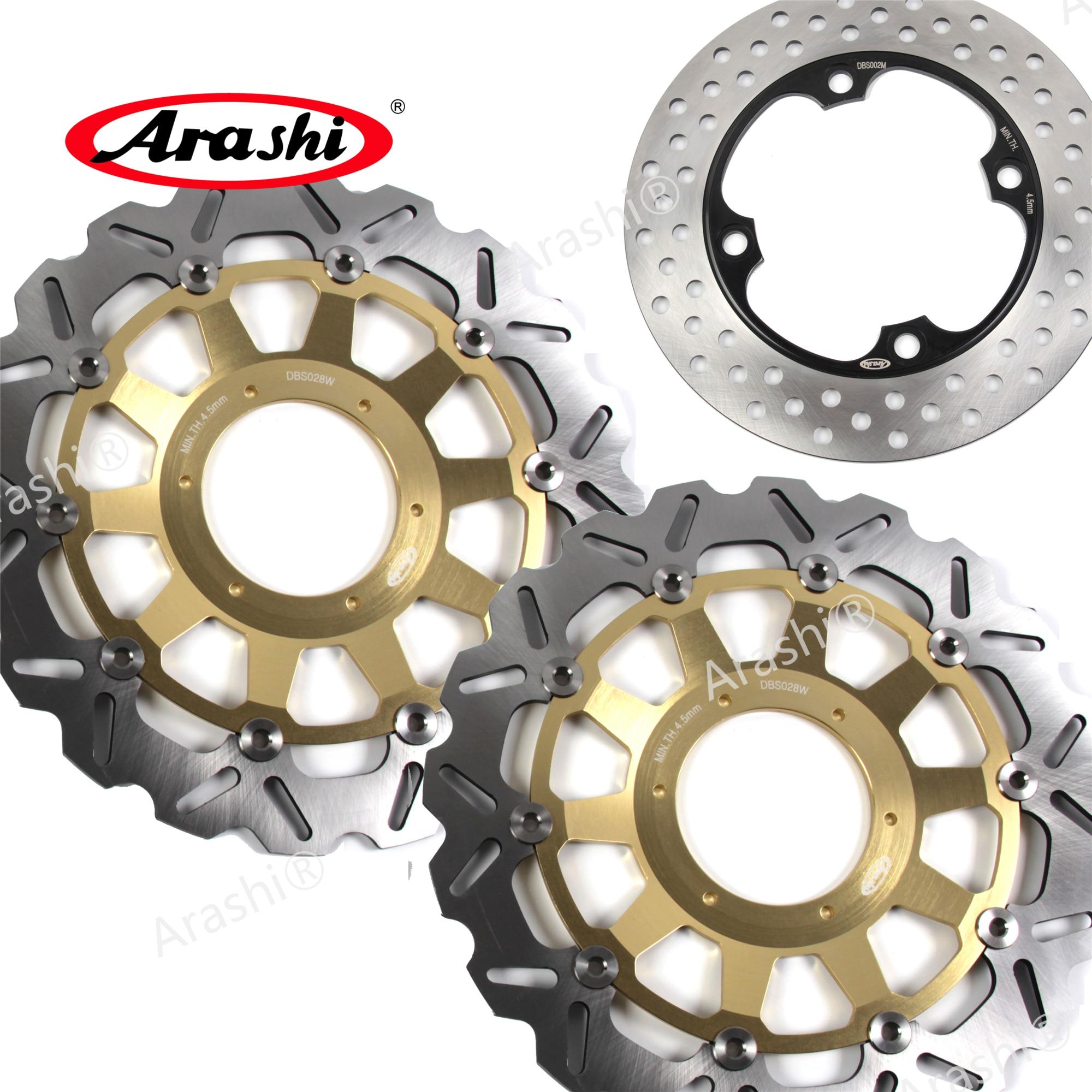 ARASHI CBR954 тормозной диск для HONDA CBR954RR 2002 2003 CBR 954 RR Передние Задние тормозные роторы золотой черный