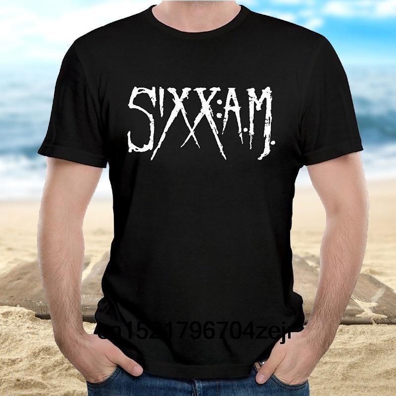 Camiseta para hombre Sixx AM rezos de piel para damaked negro talla S- Xxxl camiseta novedad camiseta para mujer