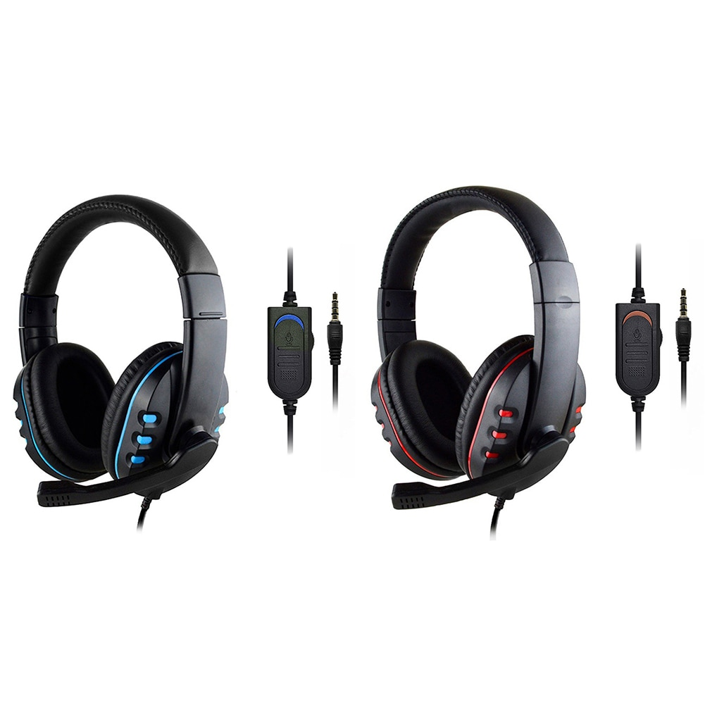 3.5mm Wired Gaming Headset Over Ear Bluetooth Headphones with Rotatable Microphone for PS4 Xbox One PC Computer Gamer Alloet