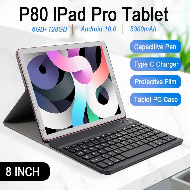 8.0 인치 IPad 프로 태블릿 6 기가 바이트 RAM 128 기가 바이트 ROM 안드로이드 10.0 정제 5300mAh MTK6797 10 코어 안드로이드 태블릿 듀얼 5G 와이파이 GPS 태블릿 PC