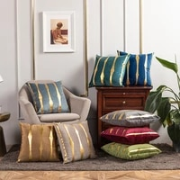 bronzing stripe polyester living room decorative throw cushion cover pillowcase 4545 nordic home decor pillowcover 40795